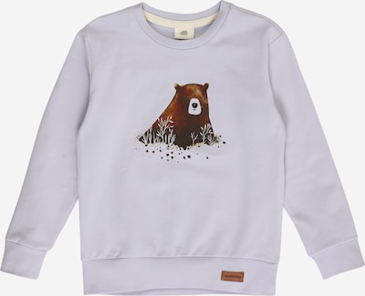 Walkiddy Sweatshirt in braun / hellgrau, Produktansicht