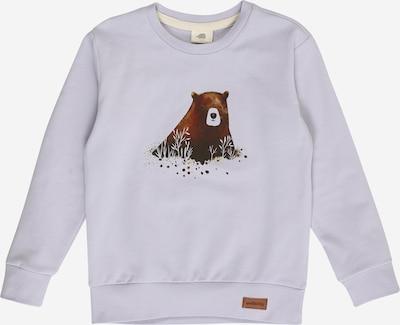 Walkiddy Sweatshirt in braun / hellgrau: Frontalansicht