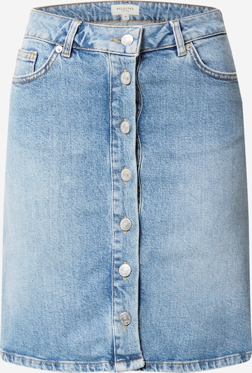 SELECTED FEMME Jeansrock in blue denim, Produktansicht