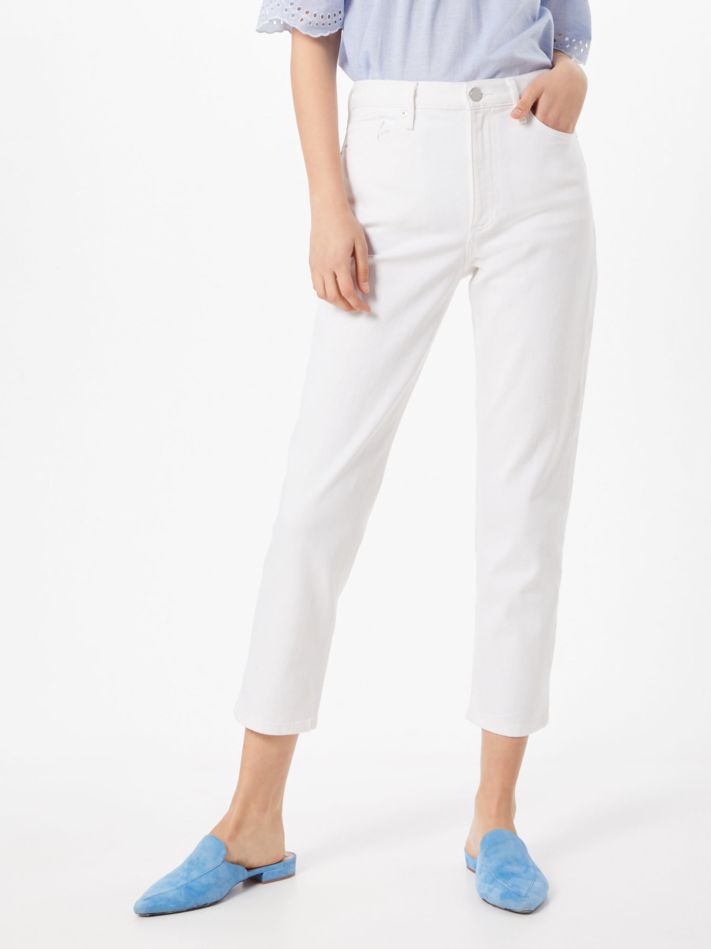 Straight Front Seams' Republic W 'highrise White Banana Weiß DamenJeans In ikXTPZOwu