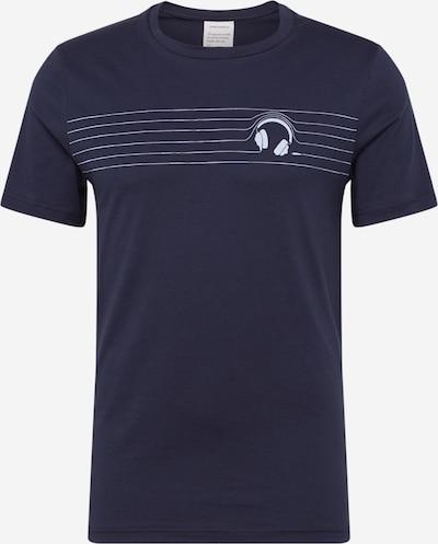 ARMEDANGELS Shirt 'JAAMES HEADPHONES' in navy / weiß: Frontalansicht