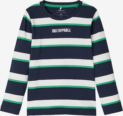 NAME IT Longsleeve in nachtblau / grün / weiß, Produktansicht