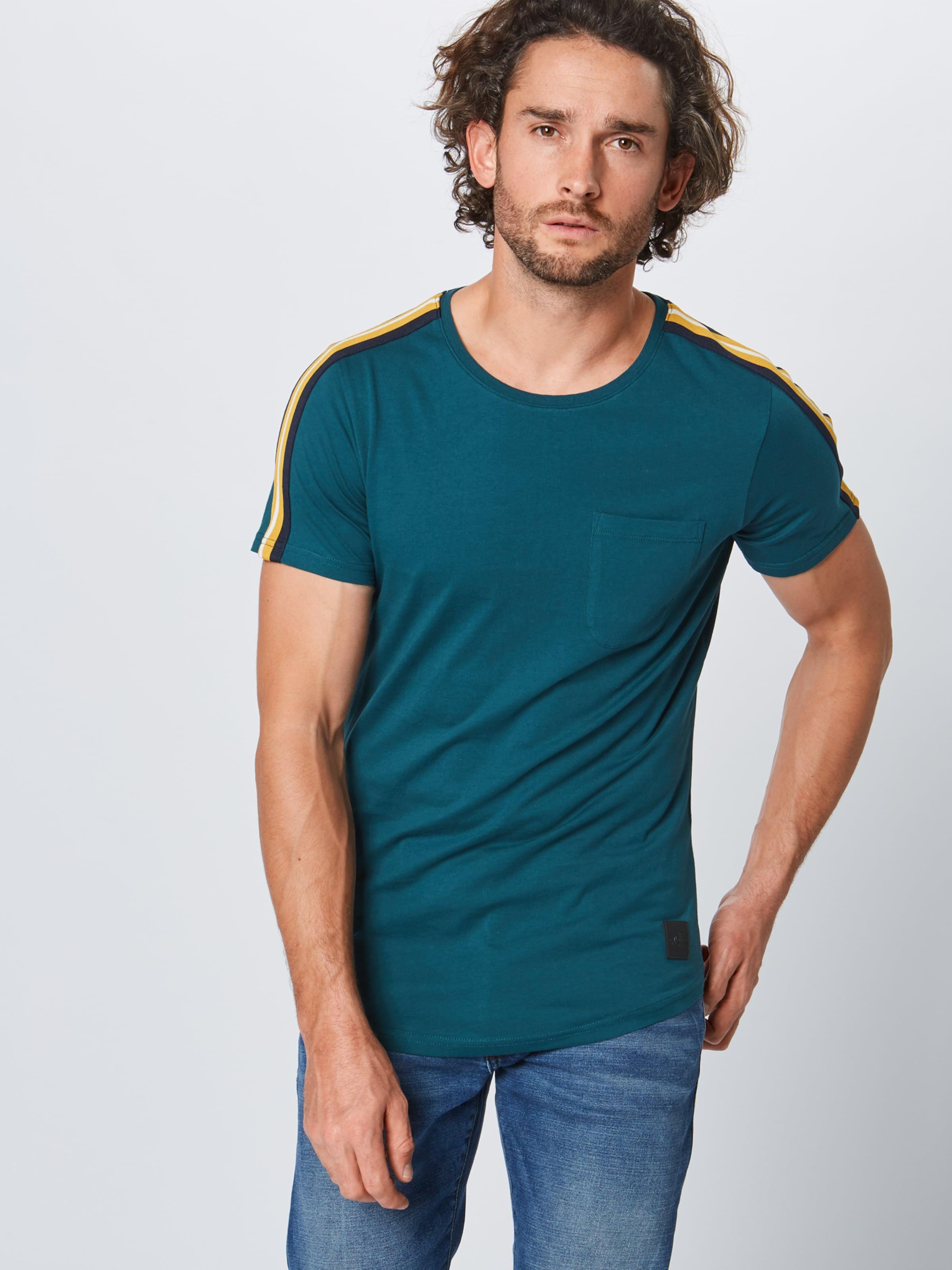 Red En shirt Pétrole T oliver Label S E2YeD9bHWI