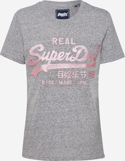Superdry Shirt in de kleur Grijs gemêleerd / Rosa, Productweergave