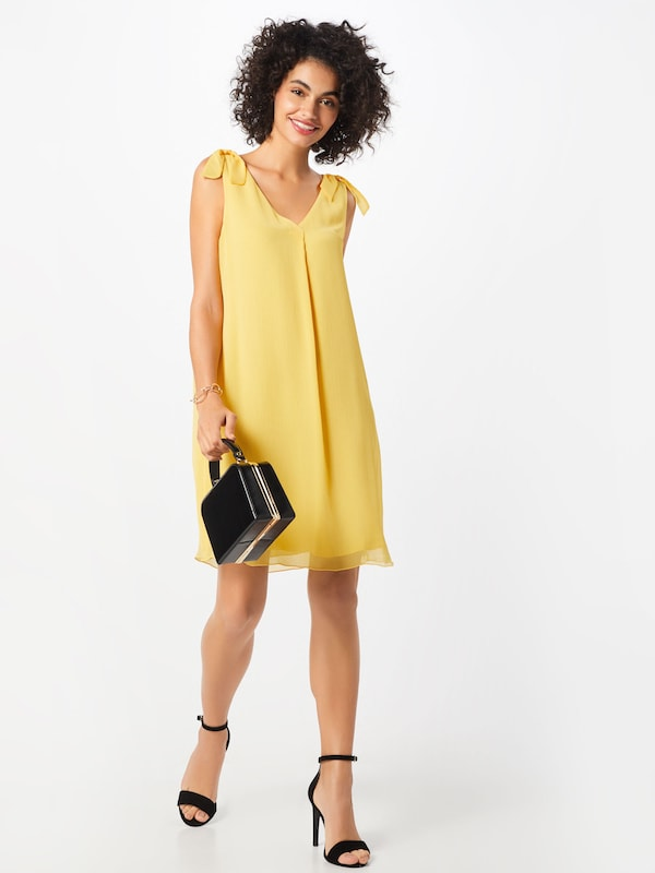 TOM TAILOR Chiffon-Kleid in gelb | ABOUT YOU