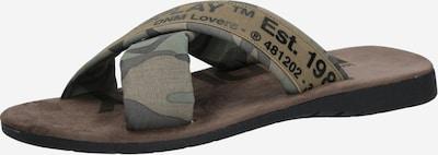 REPLAY Sandale in braun / khaki / schwarz: Frontalansicht