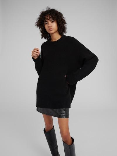 EDITED Oversized trui 'Luca' in de kleur Zwart, Modelweergave