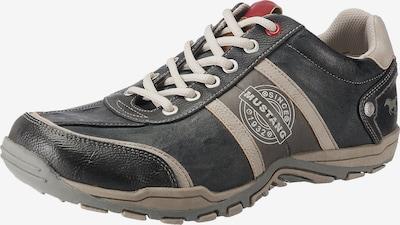 Sportinio stiliaus batai su raišteliais iš MUSTANG , spalva - pilka / balta, Prekių apžvalga