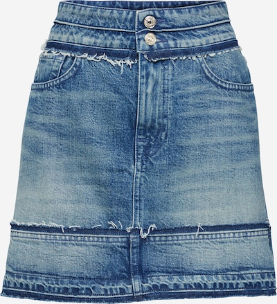 7 for all mankind Rok 'A LINE RELEASED UNROLLED' in de kleur Blauw, Productweergave