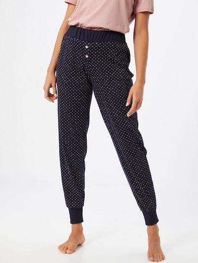 CALIDA Pyjamabroek in de kleur Donkerblauw / Pink / Wit: Vooraanzicht