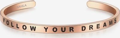 Nahla Jewels Armband mit FOLLOW YOUR DREAMS-Schriftzug in rosegold / schwarz, Produktansicht