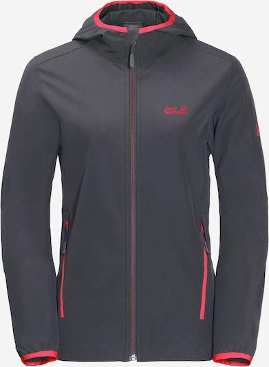 JACK WOLFSKIN Sport-Funktionsjacke 'TURBULENCE' in dunkelblau / rot, Produktansicht