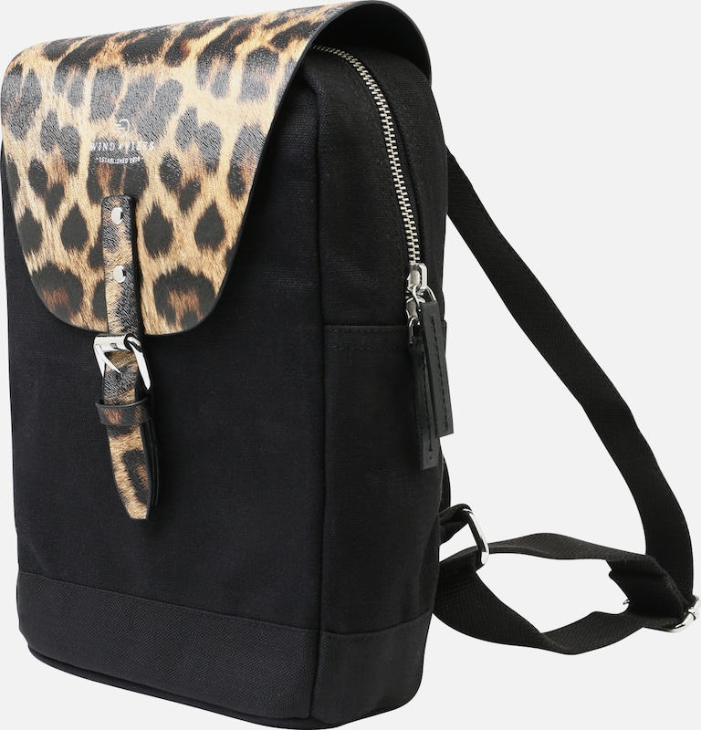 WIND & VIBES Rucksack 'Mayfair Canvas' in schwarz, Produktansicht