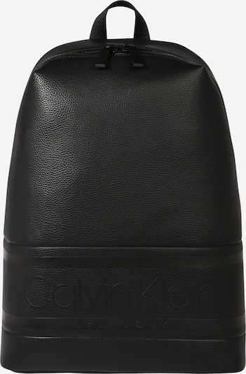Calvin Klein Rucksack 'STRIPED LOGO PU ROUND' in schwarz, Produktansicht