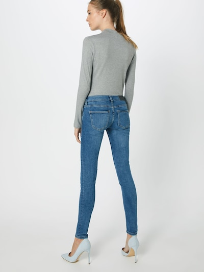 Noisy may Jeans 'NMEVE LW SKINNY ORGANIC JEANS CS027MB BG' in blue denim: Rückansicht