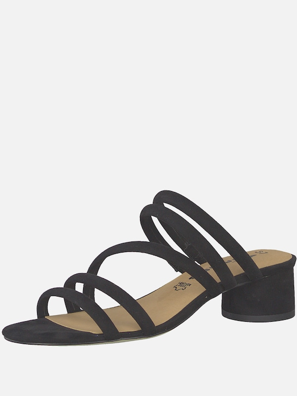 TAMARIS Sandale 'Strappy Mule' in schwarz | ABOUT YOU