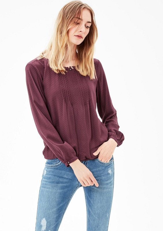 S.oliver Red Label O-shape-blouse With Tucks