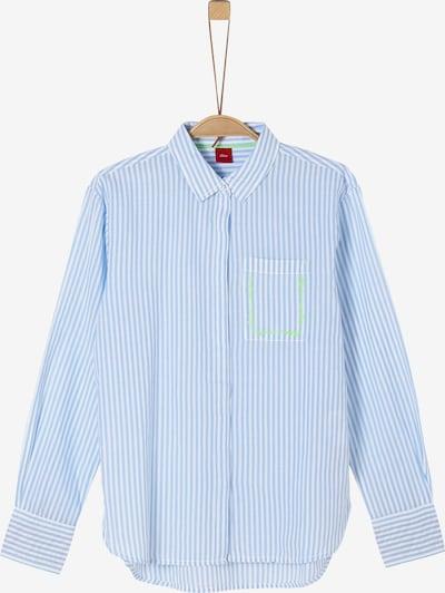 s.Oliver Bluse in blau / weiß, Produktansicht