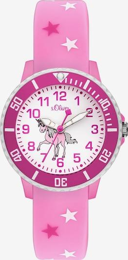 s.Oliver Uhr in fuchsia / hellpink / weiß, Produktansicht