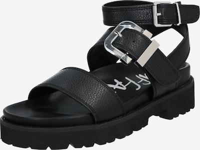BUFFALO Sandále 'JIMENA' - čierna / strieborná, Produkt