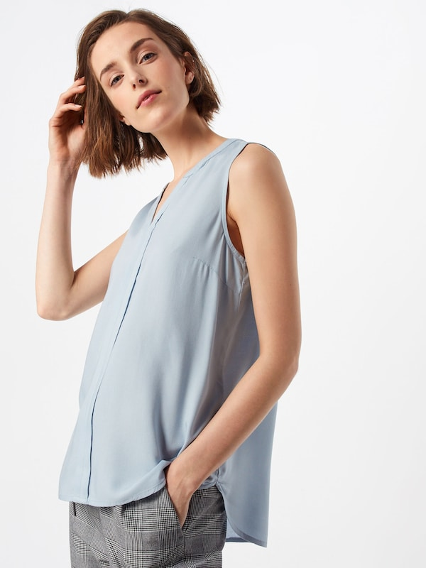 TOM TAILOR DENIM Bluse in blau, Modelansicht