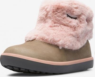 CAMPER Stiefel 'Twins' in dunkelbeige / rosa, Produktansicht