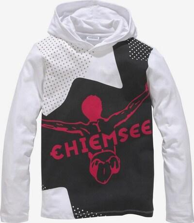 CHIEMSEE Shirt in cranberry / schwarz / weiß, Produktansicht