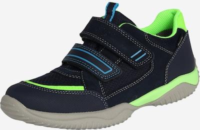 SUPERFIT Sneaker 'Storm' in hellblau / dunkelblau / kiwi, Produktansicht