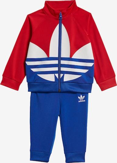 ADIDAS ORIGINALS Trainingsanzug 'Trefoil' in blau / rot / weiß: Frontalansicht