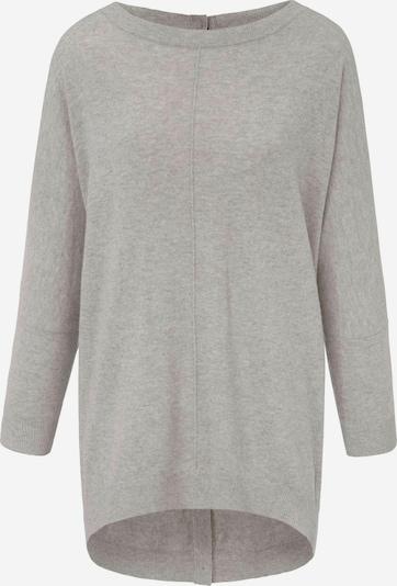 Peter Hahn Rundhals-Pullover aus 100% Schurwolle in grau / graumeliert, Produktansicht
