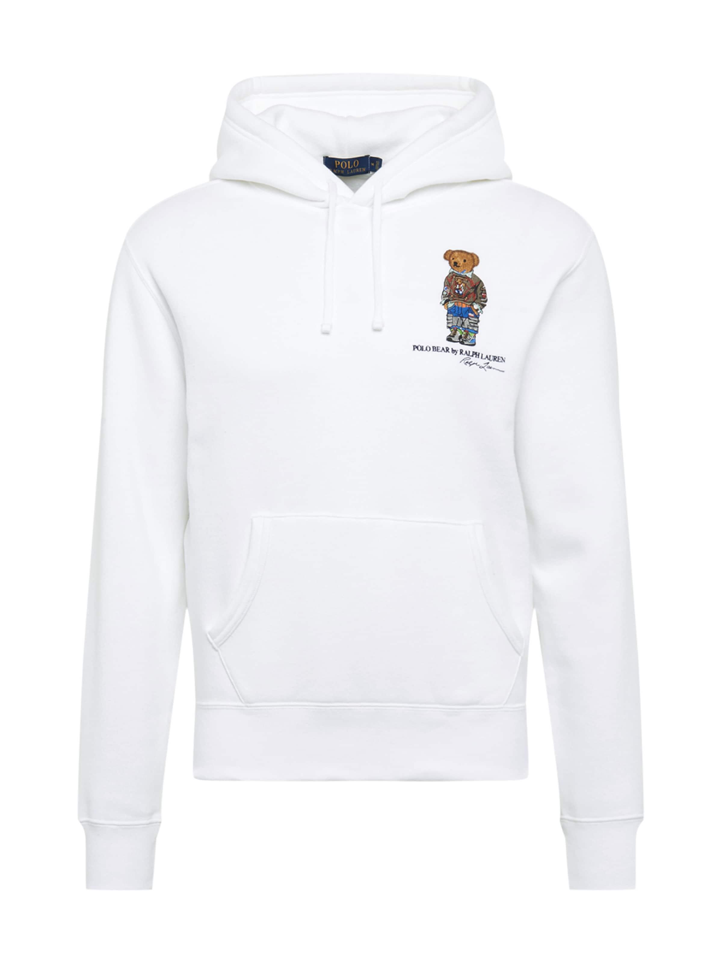 Polo Ralph Blanc shirt Sweat En Lauren uXiOTPkZ
