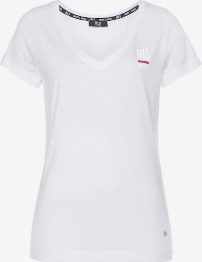 HIS JEANS T-Shirt in weiß, Produktansicht