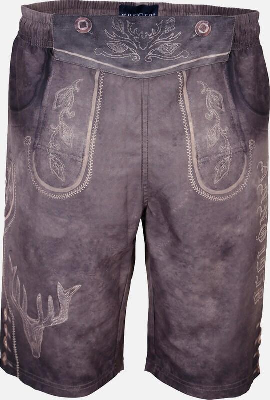 Kruger Buam Costume Trunks In Lederhosen-optics
