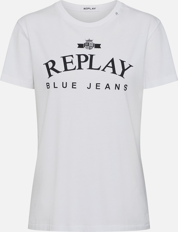 REPLAY Shirt in weiß, Produktansicht