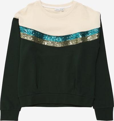 NAME IT Sweater majica u bež / kraljevski zelena, Pregled proizvoda