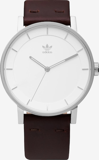 ADIDAS ORIGINALS Armbanduhr 'District_L1' in dunkelbraun / silber / weiß, Produktansicht