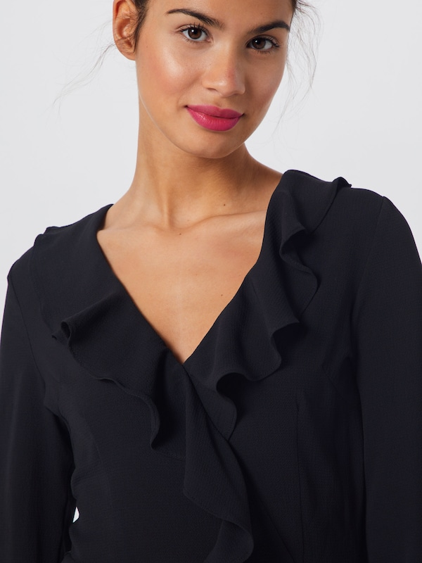 Noir Sleeve Ruffle 'long D'été En Missguided Robe Tea Dress' PkXwOiZuTl
