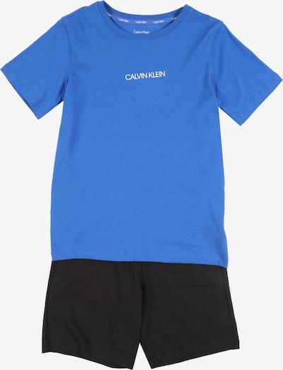 Pijamale Calvin Klein Underwear pe albastru / negru, Vizualizare produs