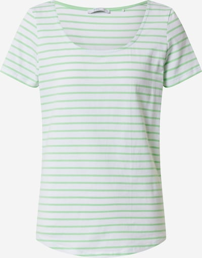 EDC BY ESPRIT Shirt in hellgrün / weiß, Produktansicht