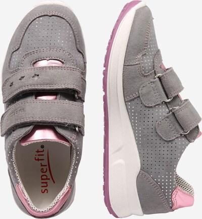 SUPERFIT Sneaker 'MERIDA HS' in grau / rosa: Seitenansicht
