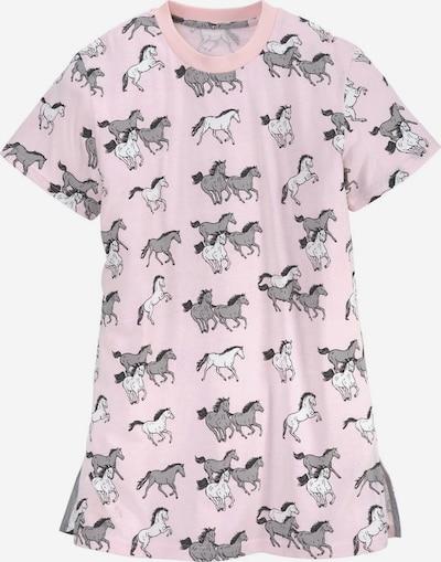 PETITE FLEUR Nachthemd in grau / rosa / schwarz / weiß, Produktansicht