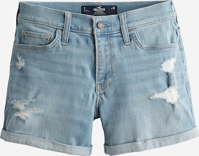 HOLLISTER Jeans 'DTC MR 5IN MED DEST DBL ROLL' in de kleur Blauw denim, Productweergave
