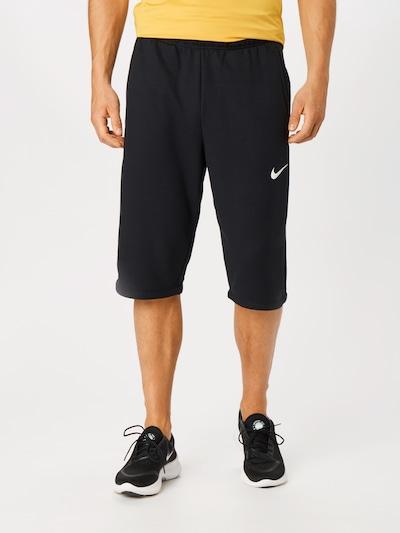 NIKE Športne hlače | črna / bela barva: Frontalni pogled