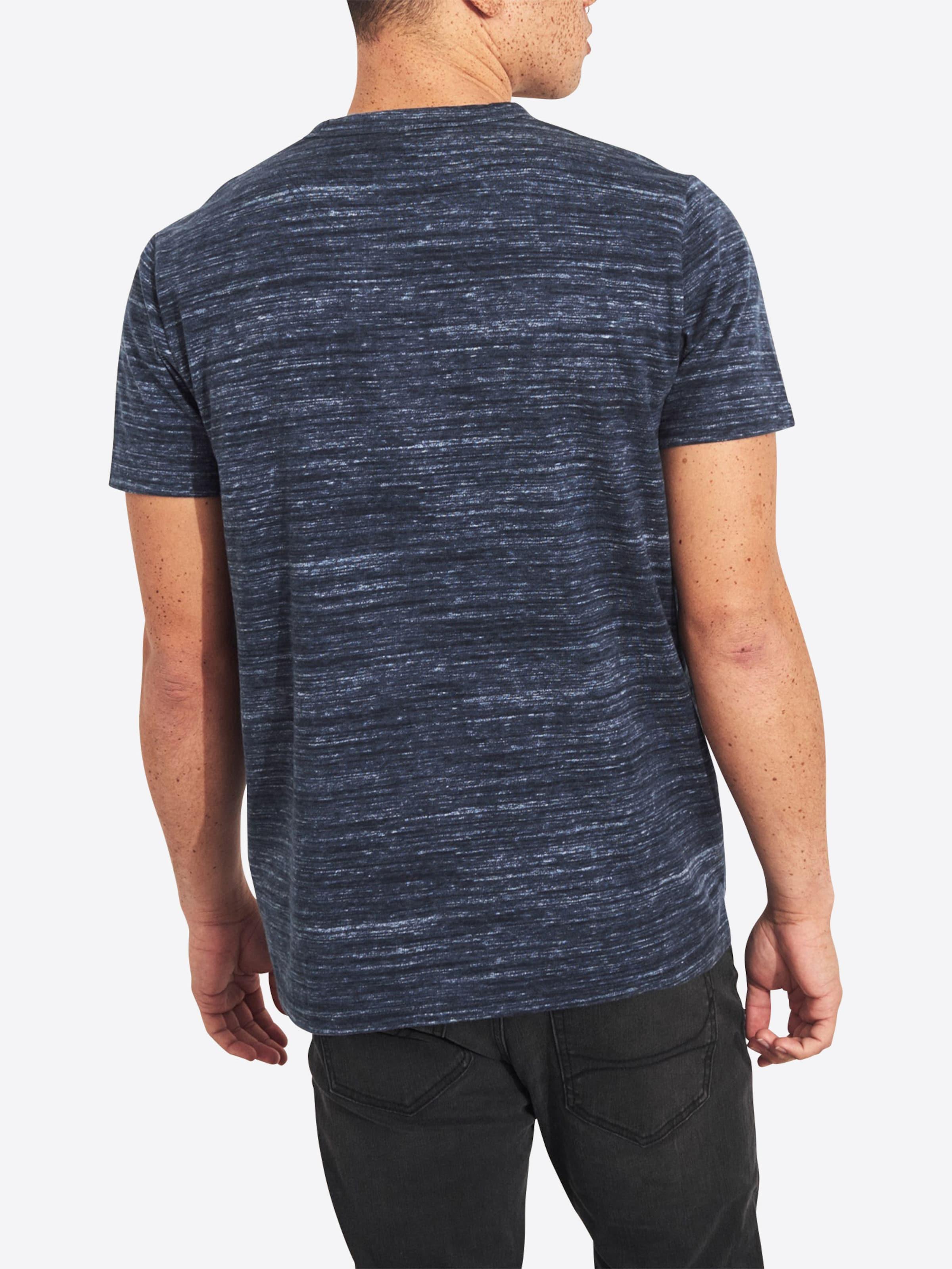 T Marine shirt En Hollister 'secondary' Bleu qSLzMVpGU