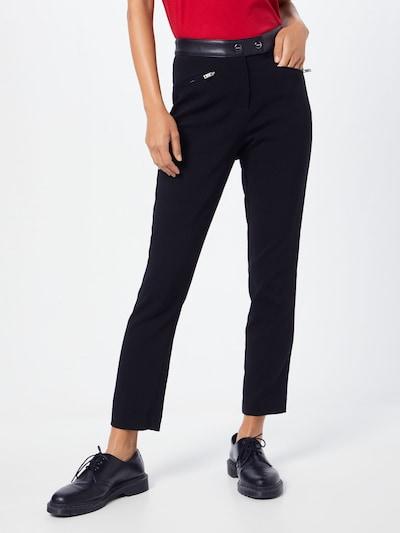 DKNY Hose 'STRAIGHT PANT FAU' in schwarz, Modelansicht