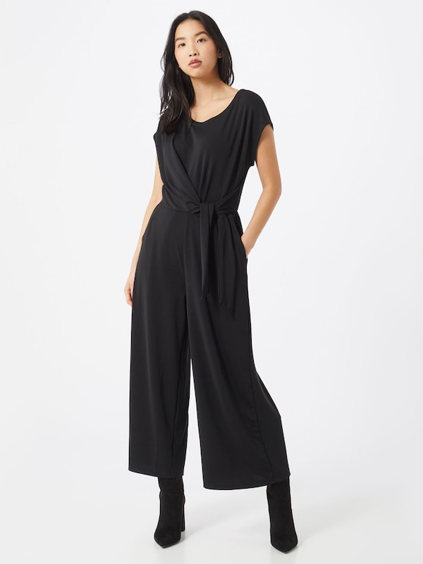 Banana Republic Overall 'SS BOATNECK WRAP KNIT JUMPSUIT SOLID' in schwarz, Modelansicht