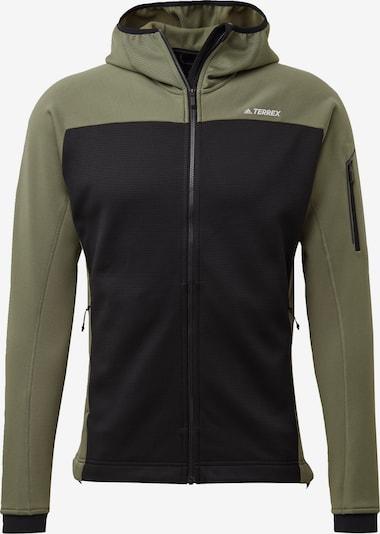 ADIDAS PERFORMANCE Funktionele fleece-jas in de kleur Olijfgroen / Zwart, Productweergave