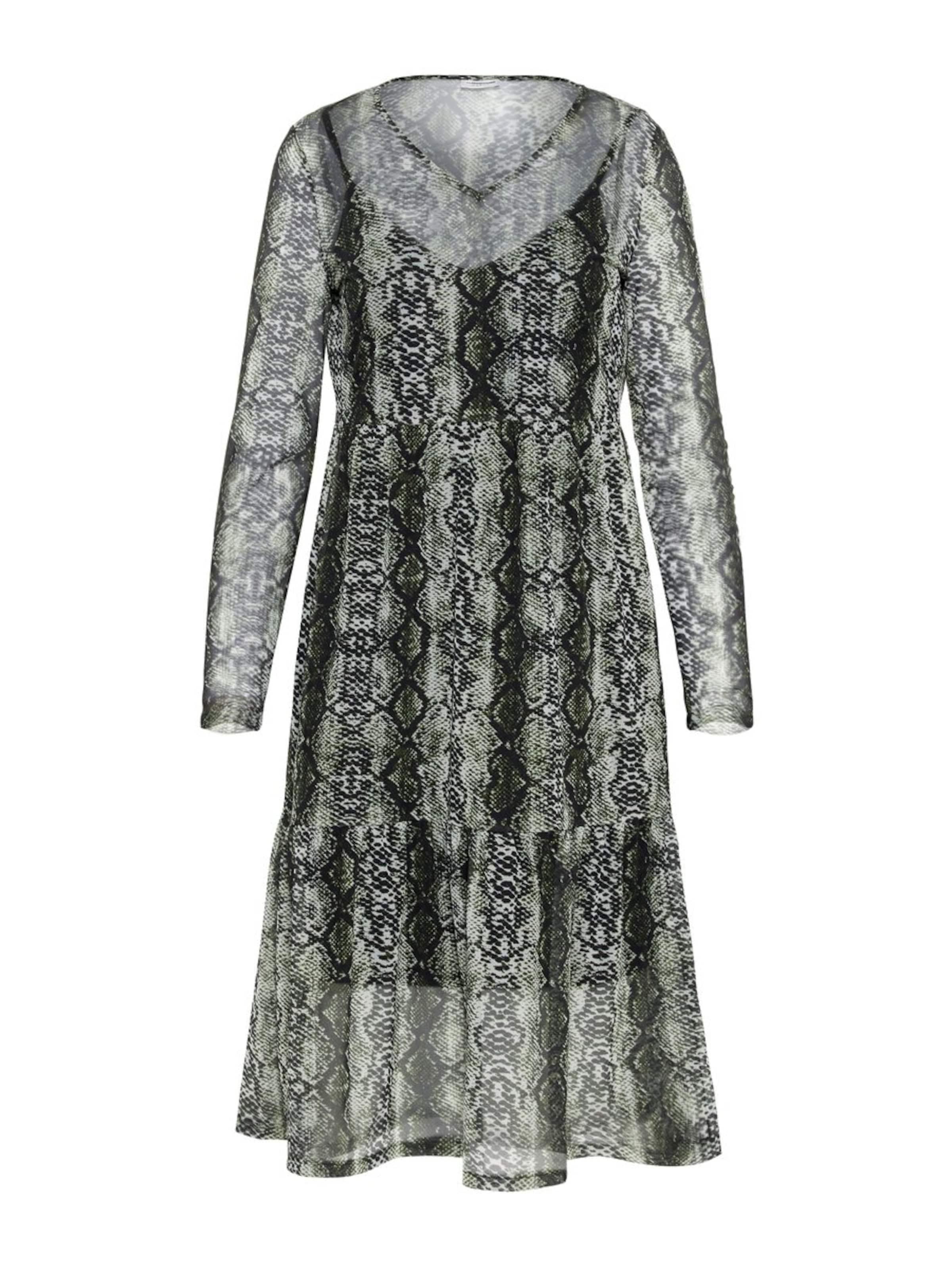 Kleid May PastellgrünSchwarz 'lesly' In Noisy v8wn0mN