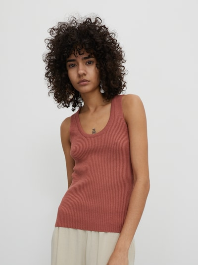 EDITED Top 'Evie' w kolorze brązowym, Podgląd na modelu(-ce)