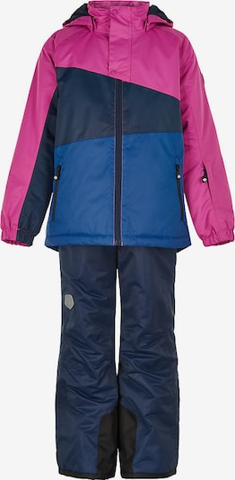 COLOR KIDS Schneeanzug in blau / dunkelblau / rosa, Produktansicht